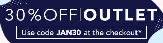30% off Outlet with code JAN30