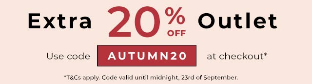 Outlet extra 20% off